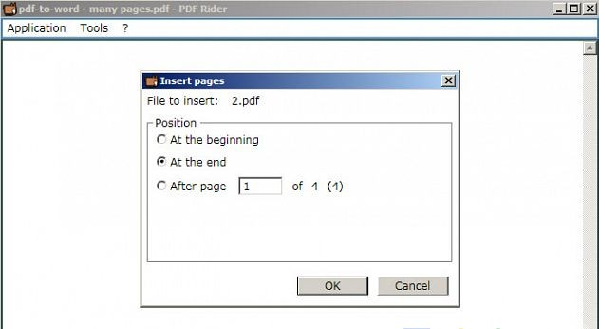PDF Rider - phần mềmghép file PDF miễn phí