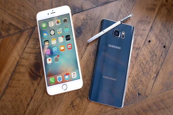 Đồng loạt giảm galaxy note 8 và iphone 7 plus