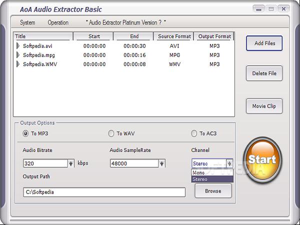 Phần mềm tách nhạc từ video - AoA Audio Extractor