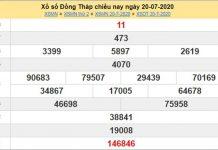 Dự đoán XSDT 27/7/2020 chốt KQXS Đồng Tháp thứ 2