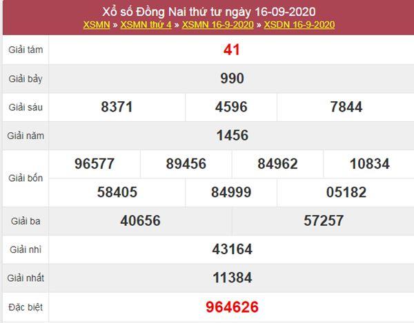 Dự đoán XSDNA 23/9/2020 chốt số đẹp Đồng Nai thứ 4