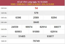 Dự đoán XSVL 23/10/2020 chốt lô VIP Vĩnh Long thứ 6