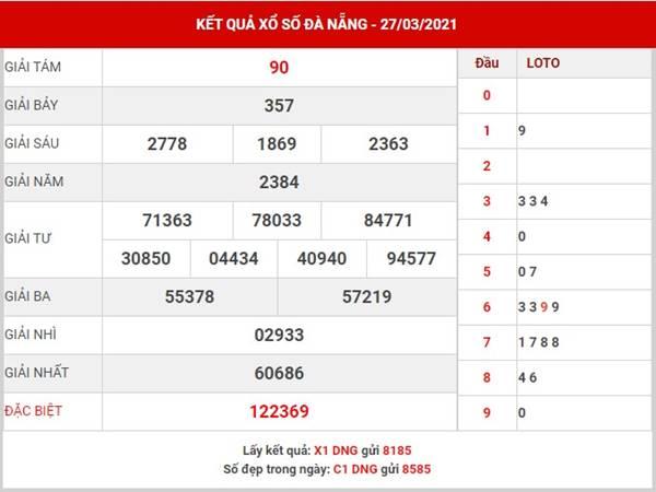 Dự đoán xổ số Đà Nẵng thứ 4 ngày 31/3/2021