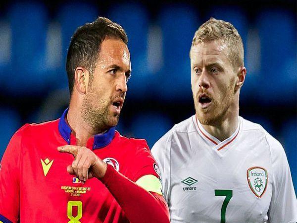 Nhận định tỷ lệ Andorra vs CH Ireland, 23h00 ngày 3/6 - Giao Hữu