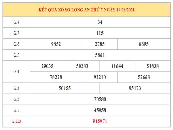 Dự đoán XSLA ngày 26/6/2021 dựa trên kết quả kì trước
