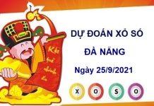 Dự đoán xổ số Đà Nẵng ngày 25/9/2021 thứ 7